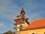 Oprava střechy kostelní báně v roce 2016 a výhled z ní.