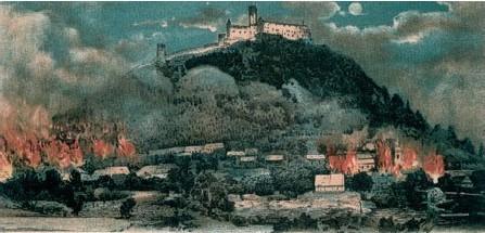 Obraz požár